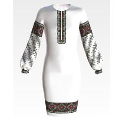 Заготовка дитячого плаття на 9-12 років Борщівська для вишивки бісером ПД052кБ40нн