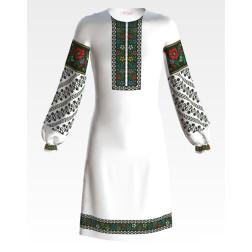 Заготовка дитячого плаття на 9-12 років Борщівська для вишивки бісером ПД053кБ40нн
