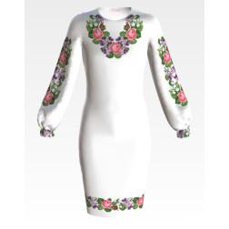 Заготовка дитячого плаття на 9-12 років Ніжні квіти для вишивки бісером ПД060кБ40нн