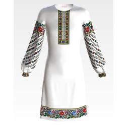 Заготовка дитячого плаття на 9-12 років Борщівські візерунки для вишивки бісером ПД064кБ40нн