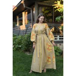 Пошите жіноче плаття – вишиванка БОХО для вишивання нитками Весільна ПЕ007лЛ4203_012_097