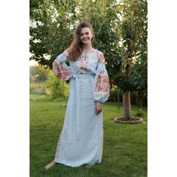 Пошите жіноче плаття – вишиванка БОХО для вишивання нитками Квітковий рай ПЕ014лУ4201_226_170