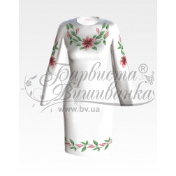 Набір ниток DMC для вишивки хрестиком до заготовки жіночої сукні – вишиванки Лілеї ПЛ002дБннннh