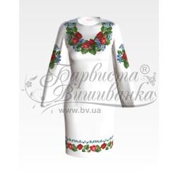Набір ниток DMC для вишивки хрестиком до заготовки жіночої сукні – вишиванки Троянди і незабудки ПЛ004дБннннh