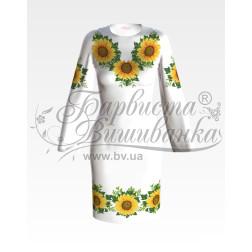 Набір ниток DMC для вишивки хрестиком до заготовки жіночої сукні – вишиванки Соняхи ПЛ012дБннннh