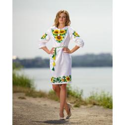 Заготовка жіночого плаття Соняхи для вишивки бісером ПЛ012кБнннн