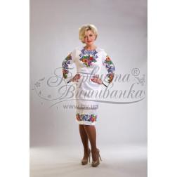 Набір бісеру Preciosa для вишивки бісером до заготовки жіночої сукні – вишиванки Маки і незабудки. Молодіжна ПЛ014дБннннb