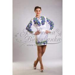 Набір бісеру Preciosa для вишивки бісером до заготовки жіночої сукні – вишиванки Іриси ПЛ015дБннннb