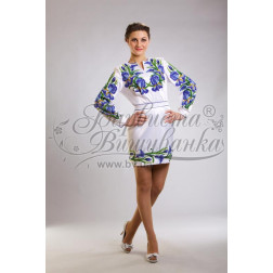 Набір ниток DMC для вишивки хрестиком до заготовки жіночої сукні – вишиванки Іриси ПЛ015дБннннh