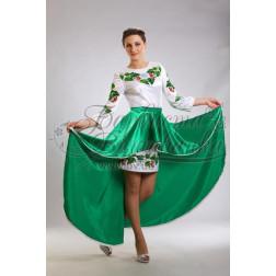 Набір бісеру Preciosa для вишивки бісером до заготовки жіночої сукні – вишиванки Цвіт калини ПЛ016дБннннb