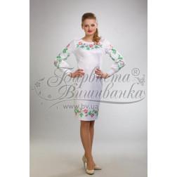 Набір ниток DMC для вишивки хрестиком до заготовки жіночої сукні – вишиванки Тендітні троянди ПЛ017дБннннh