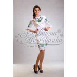 Набір бісеру Preciosa для вишивки бісером до заготовки жіночої сукні – вишиванки Ромашки і волошки ПЛ019дБннннb