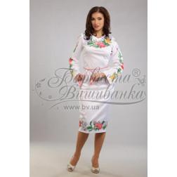 Набір бісеру Preciosa для вишивки бісером до заготовки жіночої сукні – вишиванки Королівські квіти ПЛ023дБннннb