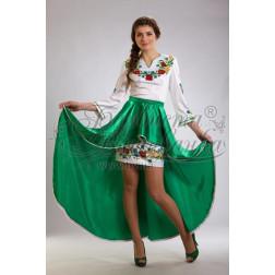 Набір бісеру Preciosa для вишивки бісером до заготовки жіночої сукні – вишиванки Польові квіти ПЛ024дБннннb