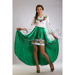 Набір ниток DMC для вишивки хрестиком до заготовки жіночої сукні – вишиванки Польові квіти ПЛ024дБннннh
