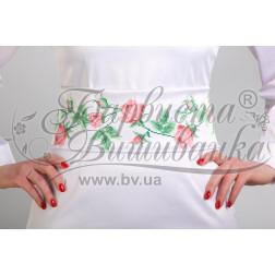 Набір бісеру Preciosa для вишивки бісером до заготовки жіночого пояса – вишиванки Тендітні троянди ПС017пБннннb