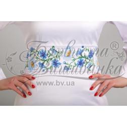 Набір бісеру Preciosa для вишивки бісером до заготовки жіночого пояса – вишиванки Ромашки і волошки ПС019пБннннb
