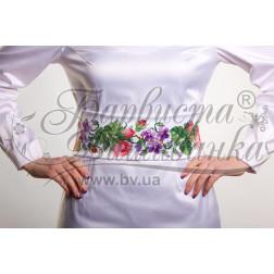 Набір бісеру Preciosa для вишивки бісером до заготовки жіночого пояса – вишиванки Троянди і фіалки ПС022пБннннb