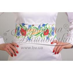 Набір бісеру Preciosa для вишивки бісером до заготовки жіночого пояса – вишиванки Польові квіти ПС024пБннннb
