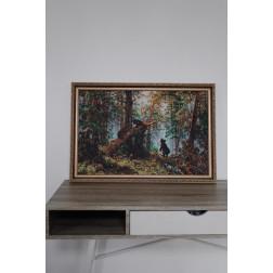 Картина вишита бісером Барвиста Вишиванка Ранок у сосновому бору 74х51 ПТ016ан6744