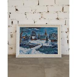 Картина вишита бісером Барвиста Вишиванка  Казкова зима 70х52 ПТ018ан6144