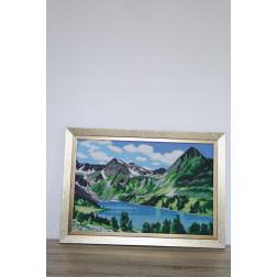 Картина вишита бісером Барвиста Вишиванка  Озеро в серці гір 73х51 ПТ019ан6443