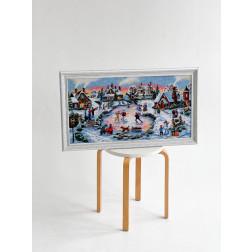 Картина вишита бісером Барвиста Вишиванка  Чарівна ковзанка 80х46 ПТ023ан7338