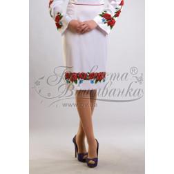 Набір ниток DMC для вишивки хрестиком до заготовки жіночої спідниці – вишиванки Маки, волошки СЖ003дБннннh