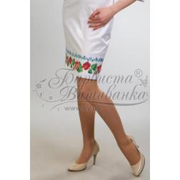 Набір ниток DMC для вишивки хрестиком до заготовки жіночої спідниці – вишиванки Троянди і незабудки СЖ004дБннннh