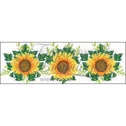 Набір ниток DMC для вишивки хрестиком до заготовки жіночої спідниці – вишиванки Соняхи СЖ012дБннннh