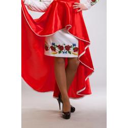 Заготовка жіночої спідниці для вишивки бісером Барвиста Вишиванка Маки, волошки, колоски СЖ013кБнннн