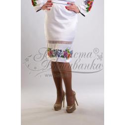 Набір ниток DMC для вишивки хрестиком до заготовки жіночої спідниці – вишиванки Маки і незабудки. Молодіжна СЖ014дБннннh