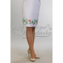 Набір ниток DMC для вишивки хрестиком до заготовки жіночої спідниці – вишиванки Тендітні троянди СЖ017дБннннh