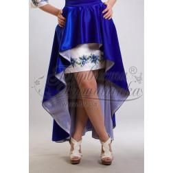 Набір ниток DMC для вишивки хрестиком до заготовки жіночої спідниці – вишиванки Сині квіти СЖ018дБннннh