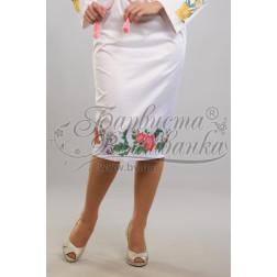 Набір ниток DMC для вишивки хрестиком до заготовки жіночої спідниці – вишиванки Королівські квіти СЖ023дБннннh
