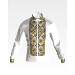 Набір бісеру Preciosa для вишивки бісером до заготовки чоловічої сорочки – вишиванки Кучерява безмежність СЧ001дБннннb