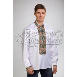 Набір бісеру Preciosa для вишивки бісером до заготовки чоловічої сорочки – вишиванки Борщівська квітка СЧ004дБннннb