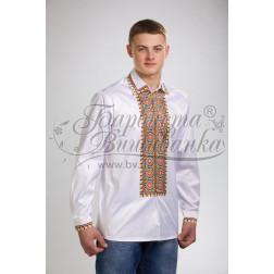 Набір бісеру Preciosa для вишивки бісером до заготовки чоловічої сорочки – вишиванки Прикарпаття СЧ011дБннннb