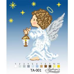 Набір бісеру Preciosa для вишивки бісером до схеми для вишивання Ангел ТА001пн2323b