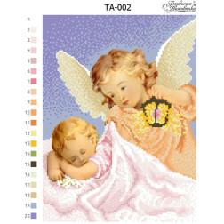 Схема картини Ангел Хоронитель для вишивки бісером на тканині ТА002пн2432