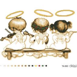 Схема картини Небесні музиканти для вишивки бісером на тканині ТА003пн5438