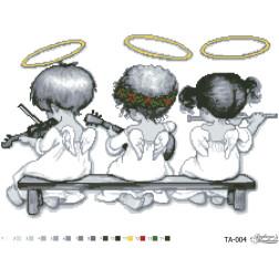 Схема картини Небесні музиканти для вишивки бісером на тканині ТА004пн5438