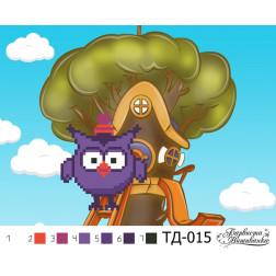 Набір для вишивки бісером Барвиста Вишиванка Совуня (серія: Смішарики) А5(21х15) ТД015пн2115k