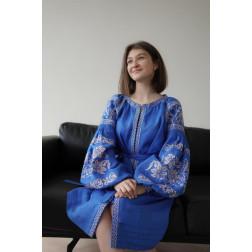 Пошита жіноча туніка – вишиванка БОХО для вишивання нитками Святкова ТЕ008лУ4204_225_180