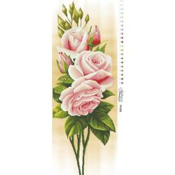 Схема для вишивки бісером Барвиста Вишиванка Ніжні троянди 36х96 ТК001пн3696