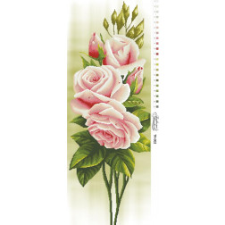 Схема для вишивки бісером Барвиста Вишиванка Свіжі троянди 36х96 ТК002пн3696