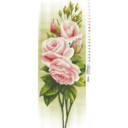Набір для вишивки бісером Барвиста Вишиванка Свіжі троянди 36х96 ТК002пн3696k