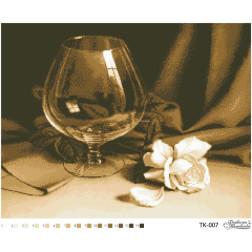 Схема для вишивки бісером Барвиста Вишиванка Келих і троянда 54х42 ТК007пн5442