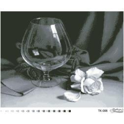 Схема для вишивки бісером Барвиста Вишиванка Келих і троянда 54х42 ТК008пн5442