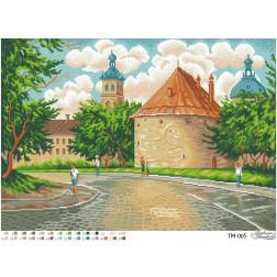 Схема картини Вулицями старого міста для вишивки бісером на тканині ТМ005пн6143